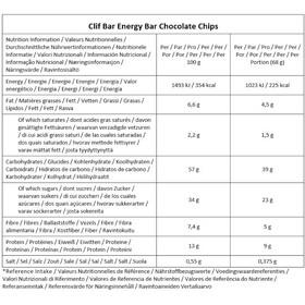 CLIF Bar Energy Bar Box 12 x 68g, Chocolate Chip